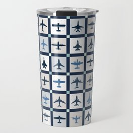 Quilt Squares Air Force Aircraft Travel Mug