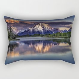 USA Grand Teton Nature Mountains Sky Parks landscape photography Rivers mountain park Scenery river Rectangular Pillow