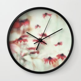 Dreamy Floral Abstract Art Wall Clock