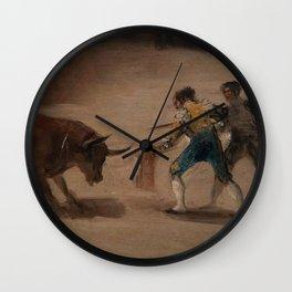 Bullfight in a Divided Ring Wall Clock