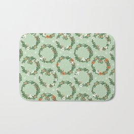 Christmas Wreath Bath Mat