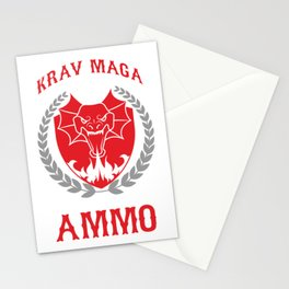 Krav Maga Martial Arts Combat Fighting Fighter Krav Maga Because You Might Run Out Of Ammo Gift Stationery Cards