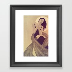Haunted Thought Framed Art Print