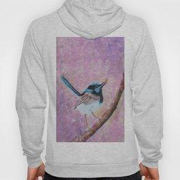 Australian Blue Wren Bird Hoody