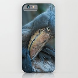 Shoebill Cleaning It's Feathers iPhone Case