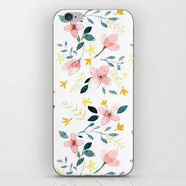 Watercolor Florals iPhone Skin