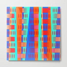 Multi Colored Geometric Forms Metal Print