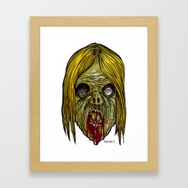 Heads of the Living Dead Zombies: Varmit Zombie Framed Art Print