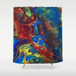 Explotion of colours Shower Curtain