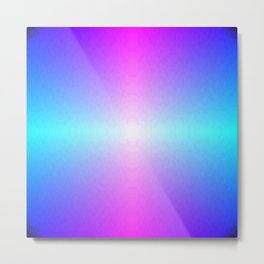 Purple, Pink, Blue and White Ombre flame pattern Metal Print