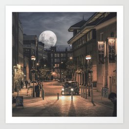 Harvest moon, London - United Kingdom Art Print