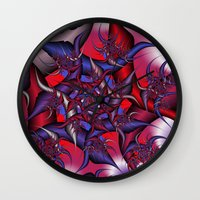 war Wall Clocks featuring war by Christy Leigh