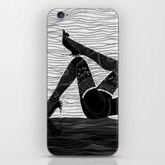 Oh la la - black & white iPhone Skin