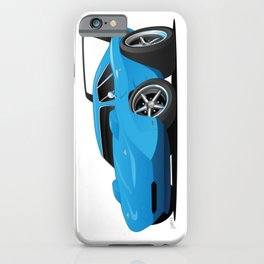 Classic American Winged Muscle Car Cartoon iPhone Case