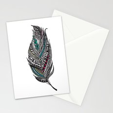 Single Aztec Feather  Stationery Cards