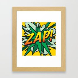 Comic Book ZAP! Framed Art Print