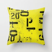 code Throw Pillows featuring Code by ayarti