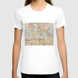 Vintage World Mail Correspondence Map (1917) T-shirt