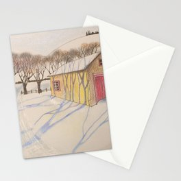 Winter shadow 1 Stationery Cards