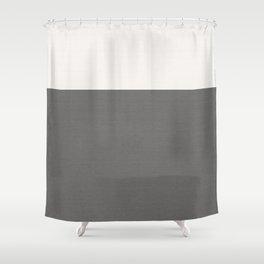 Split Grey Geometry Shower Curtain