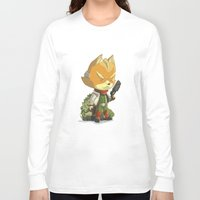 starfox Long Sleeve T-shirts featuring Fox by Rod Perich