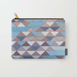 Triangle Pattern No.6 Crisp Blue Carry-All Pouch