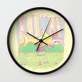 The Easter Bunny Shark Wall Clock