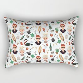 Angel And Demon Pattern Rectangular Pillow