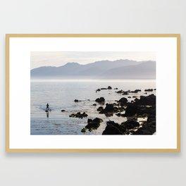 Paddleboarder - Kaikoura, NZ Framed Art Print