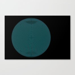 Wire Globe Full Blue Black Canvas Print