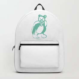 Mint bear illustration, bear drawing Backpack