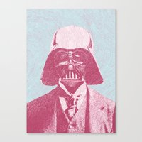 darth Canvas Prints featuring Darth Vader by Les petites illustrations
