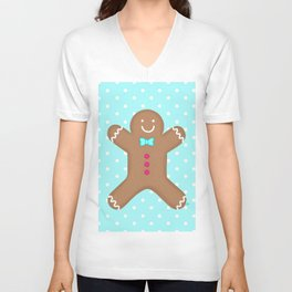Yummy Gingerbread Man Cookie Unisex V-Neck