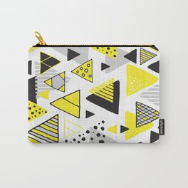 Triangles, random triangles (on white) Carry-All Pouch