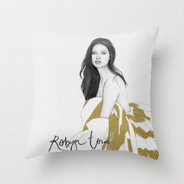 Adriana Lima Throw Pillow