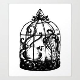 Cage the Cephalopod Art Print