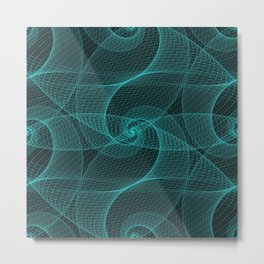 The Great Spiraling Unknown Metal Print