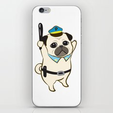 Animal Police - Pug iPhone & iPod Skin