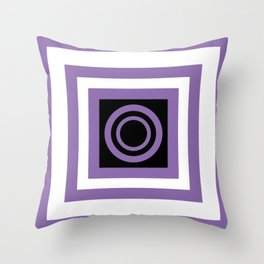purple and black Throw Pillow