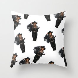 Vintage Cowgirl Throw Pillow