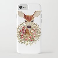 fawn iPhone & iPod Cases featuring Fawn  by craftberrybush