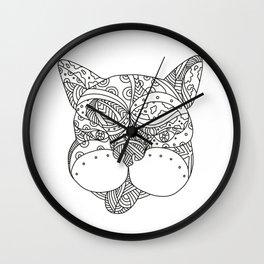 French Bulldog Doodle Art Wall Clock