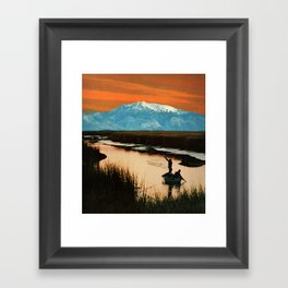 catching the blues Framed Art Print