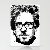 tim burton Stationery Cards featuring Tim Burton in colors by burro by BURRO