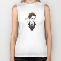 mulder Biker Tanks featuring spooky mulder by Bunny Miele