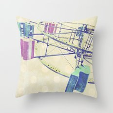 Nice Day for a Ferris Wheel Ride ... Throw Pillow