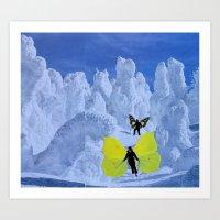 Snow Butterflies Art Print