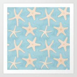 Starfish in the Water Art Print