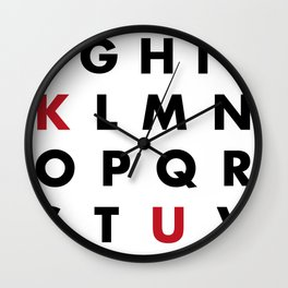 Learn your ABC Wall Clock