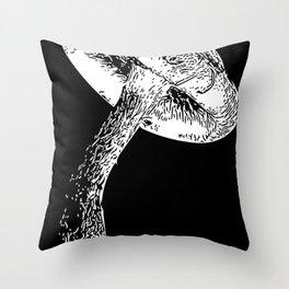 Trippy Shroomy, Psychedelic Magic Mushrooms Throw Pillow